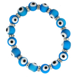 Evil Eye Stretch Bracelet In Turquoise