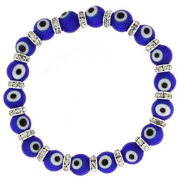 Evil Eye Stretch Bracelet In Blue