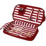 Bucasi Weekender in Red Stripe | Travel Jewelry Organizer | TS13335 | Open