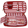 Bucasi Weekender in Red Stripe | Travel Jewelry Organizer | TS13335 | Front Open
