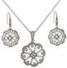Elegant Flower Pendant set in sterling silver