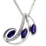 February birthstone necklace in Sterling Silver