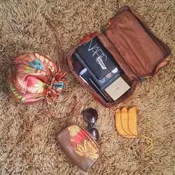 Tropical Cosmetic Travel Set in Palm Leaf Print | Bucasi PCH251SET | Set