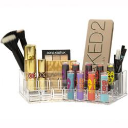 Vanity top acrylic makeup organizer