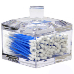 Acrylic Cotton Ball Holder - Front
