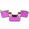 girls butterfly makeup train in purple side view | Bucasi CB15390PK |