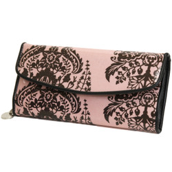 Bohemian Damask Motif Pink Jewelry Storage Roll-Up