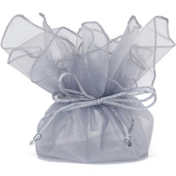 Silver Gift Bags - Set of 30