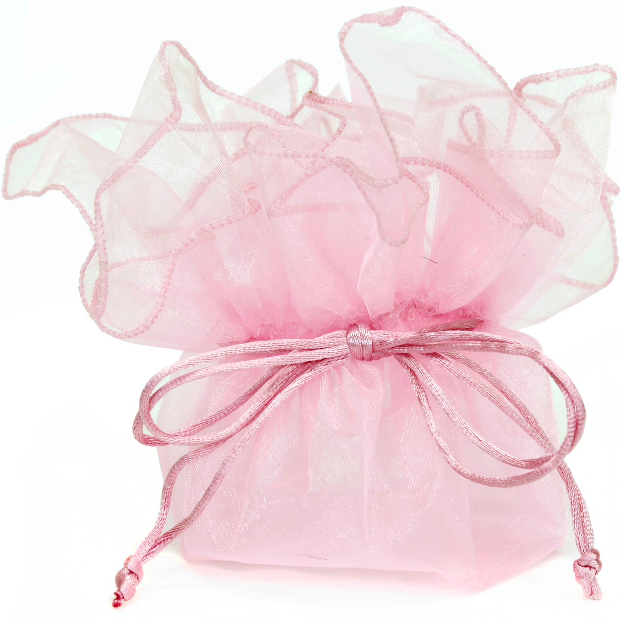 Organza Gift Bag | Baby Shower Pink Pouch Party Favor Candy Pouch