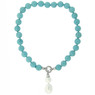 Bucasi Turquoise and Drop Pearl Pendant Necklace | Bucasi NP600TUR | Main