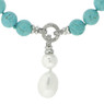 Bucasi Turquoise and Drop Pearl Pendant Necklace | Bucasi NP600TUR | Pendant