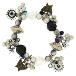 Butterfly and Star Charm Bracelet