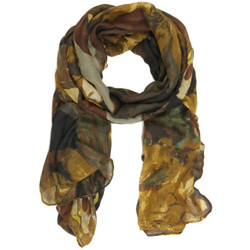 Marble Print Clara Scarf In Brown