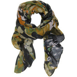 Marble Print Clara Scarf In Multi Black Brown and Olive