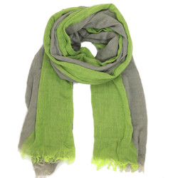 Slate and Lime Stripe Scarf