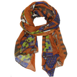 Aztec Print Scarf In Orange