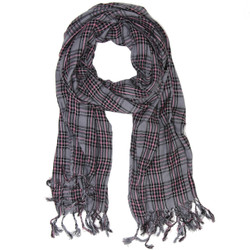 Purple and Gray Plaid Scarf