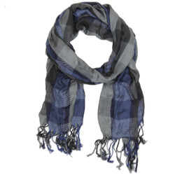 Black & Blue Plaid Scarf