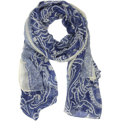 Blue and White Paisley Scarf