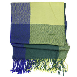 Colorblock Plaid Scarf