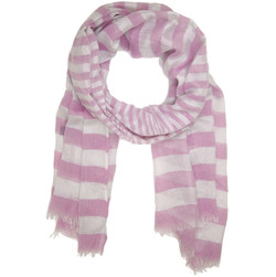 Pink Sparkle Striped Scarf