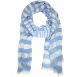 Blue Sparkling Striped Scarf