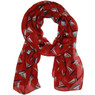 Sailboat print scarf in red