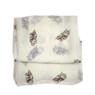 owl print scarf closeup