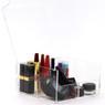 Acrylic makeup organizer open