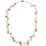 Colorful braided pearl necklace