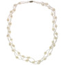 White pearl braided necklace