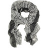 Black and White Striped Scarf - Main