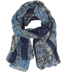 Modern Blue Striped Scarf - by Bucasi