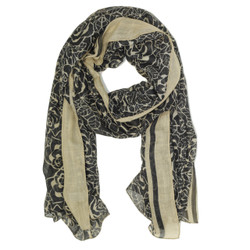 Rose Print Scarf - Main