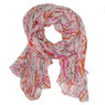 Pink abstract splatter print scarf