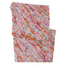 Bucasi Pink abstract splatter print scarf
