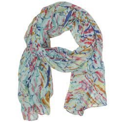 Blue Paint Splatter Print Scarf