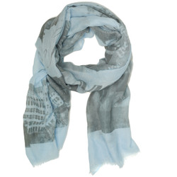 New York Print Scarf with Fringe