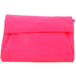 Neon Pink Evening Clutch by Bucasi