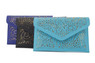 Aqua and Gold Cut out Envelope Clutch - other colors available
