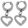 Stainless Steel Heart Earrings