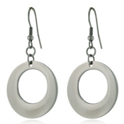 Stainless Steel Circle Drop Earrings | Bucasi SSE-1180 | Main