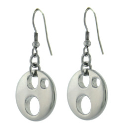 Circle Hoop Earrings in Stainless Steel