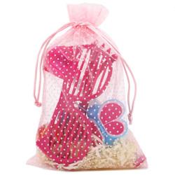 Pink Polka Dot Gift Bags - Small