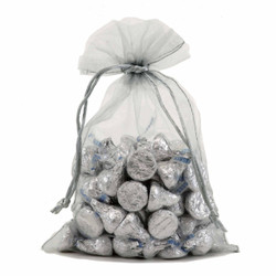 Organza Gift Bag in Silver | Party Favor Pouches | Bucasi OBG100SSIL | Main