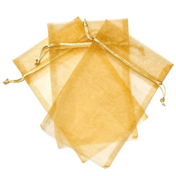 Gold Organza Gift Bags | Bucasi Organza Party Favor Bags