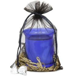 Black Organza Party Favor Gift Bags | Bucasi OBG100SBK | Set of 30 | A