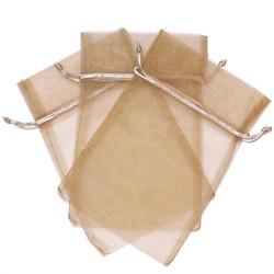 Tan Taupe Organza Gift Bags in Medium | Bucasi Organza Bags