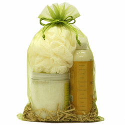 Green Sheer Organzy Gift and Party Bags | Bucasi | OBG100LGRN | Bath products View