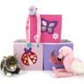 Pink & Purple Cubby Set of 3 | Bucasi SCR639 | Girls Cubby Ladybug Butterfly Moon Set | Main